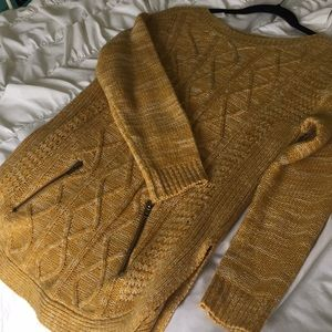 It's our time gold sweater with zippers